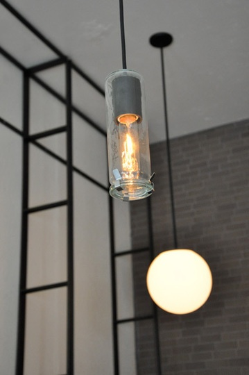Delancey pizza Seattle - steel, light, glass and brick