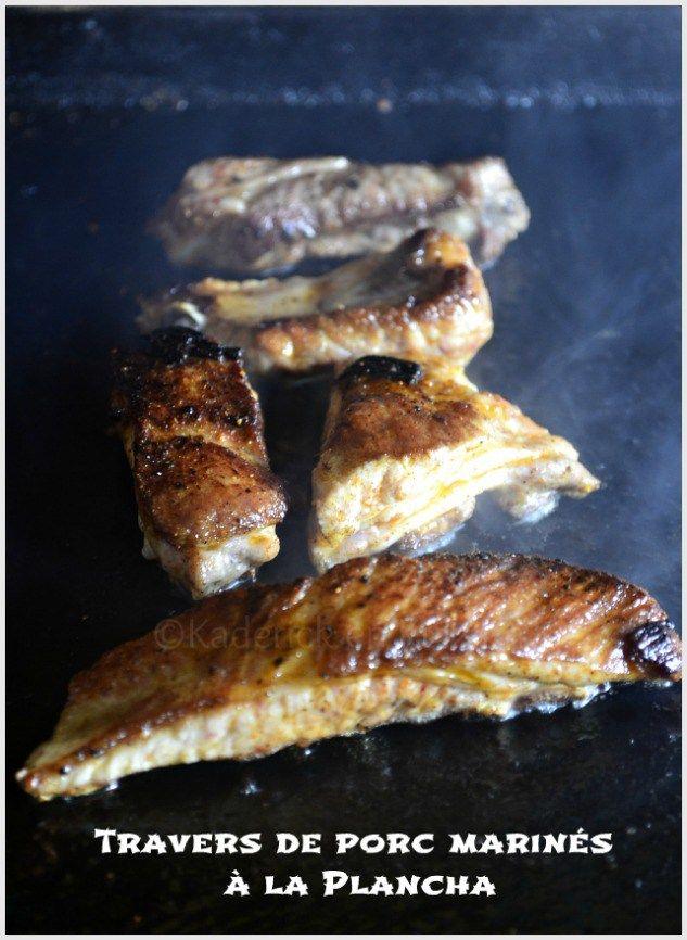 Travers de porc marinés cuits à la plancha ©Kaderick en Kuizinn