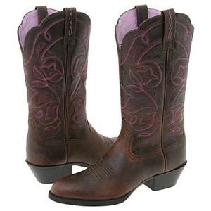 purple & brown Ariat boots :)