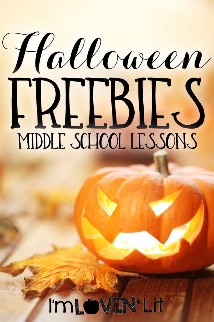 FREE Halloween activities for your middle school lessons!