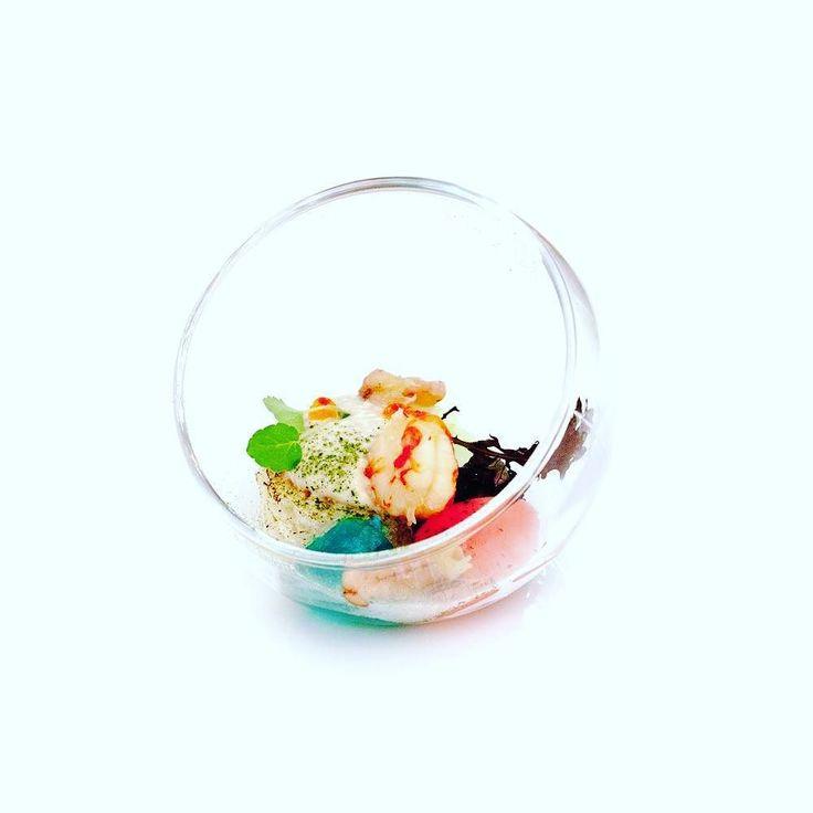 "Amuse Bouche ""Klein Aquarium"" Smoked Trout - Rivierkreeft - Pastis - Radish  #instafood #foodporn #DeMelodie #TheArtOfPlating #Restaurant #Cheflife #Netherlands #Food #GastroArt #Foodie #Foodart by karl_steele"