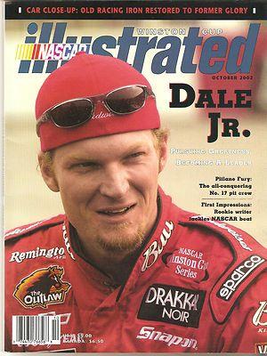 NASCAR Winston Cup Illustrated w Dale Earnhardt Jr Oct 2002 Cover | eBay