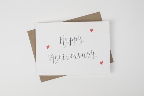 Happy Anniversary Card, a chic and romantic card to celebrate your special wedding day