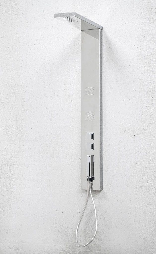 Columna de ducha con hidromasaje, rociador y ducha de mano Kira Silver de SanycCes http://www.sanchezpla.es/tienda-online/columnas/columna-ducha-hidromasaje-kira-sanycces/
