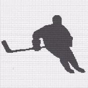 hockey player image silhouette graph - via @Craftsy