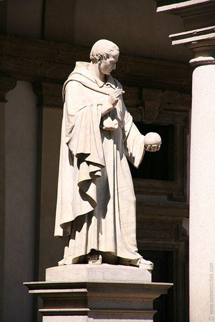 Statue of Francesco Bonaventura Cavalieri, Pinacoteca di Brera