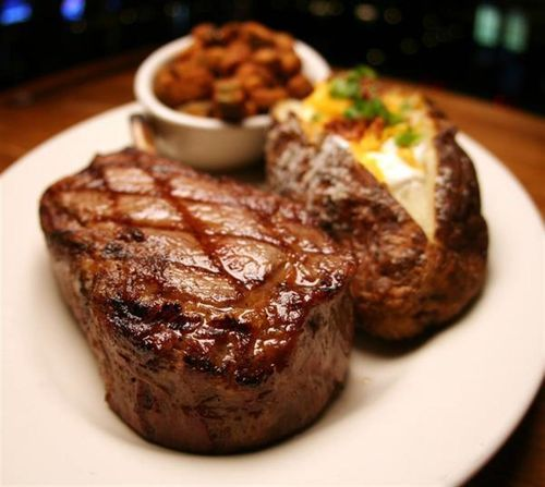 Nothing like a nice steak and baked potato. - Tom Barry's favorite food.