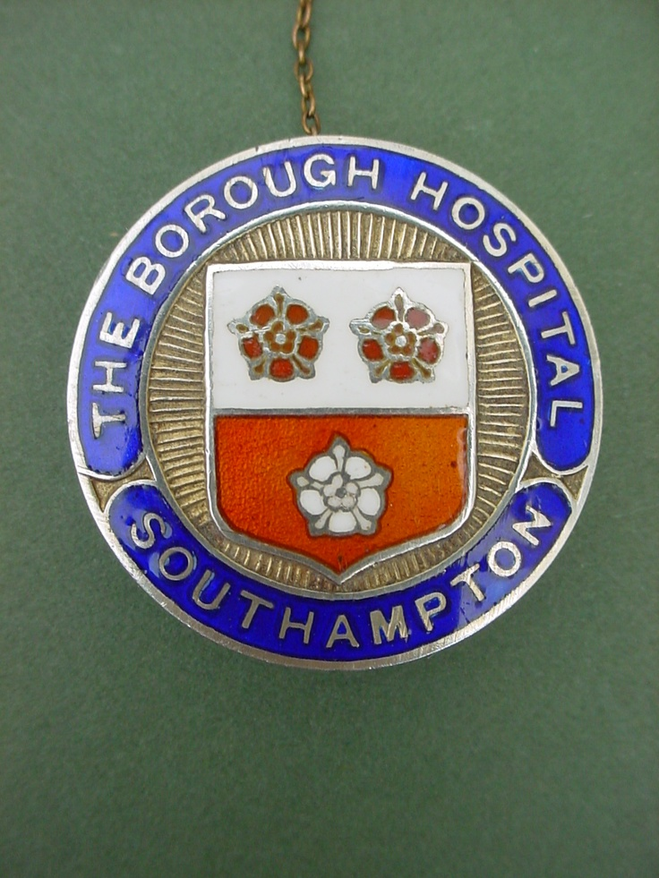 Nurses badge The Borough Hospital(1930-48)Southampton. This was later to become the sprawling Southampton General/University Hospitals site on Tremona Road