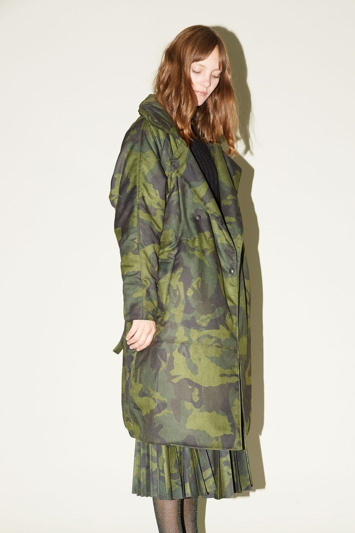 Marios Padded Coat in Camouflage