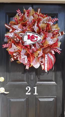 Large Burlap Kansas City Chiefs NFL Pro by DesignTwentyNineSC