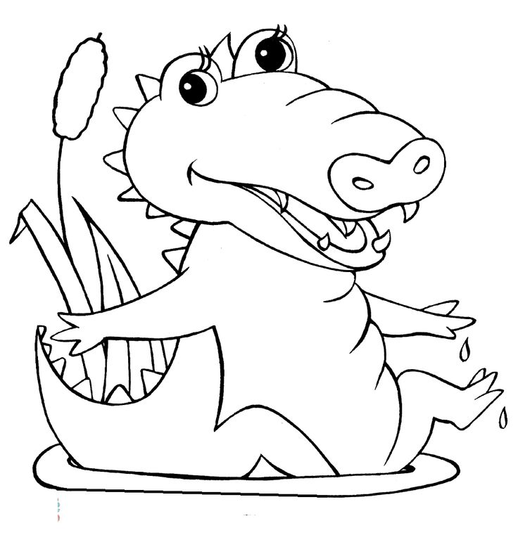 sitting relaxed crocodiles coloring pages for kids printable crocodiles coloring pages for kids - Crocodile Coloring Pages Kids