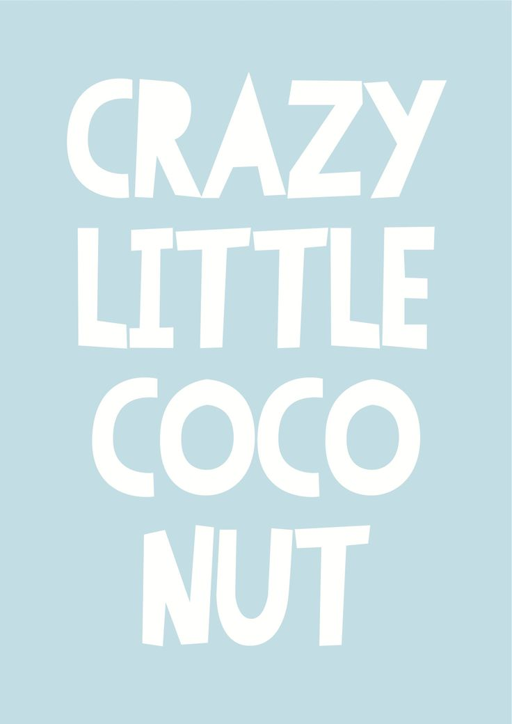 """Crazy little coco nut"" poster decal OPEN FOR PRE ORDERS 