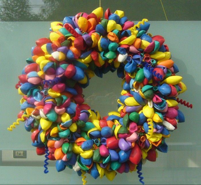 Super mooie ballonnenkrans strokrans van 30 cm 800 for Ballonnen versiering zelf maken