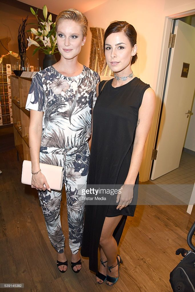 Kim Hnizdo and Lena Meyer-Landrut attend the Magnum Chocolate Hour At Magnum Pleasure Store on June 09, 2016 in Berlin, Germany.