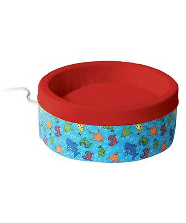 This Red & Blue Heated Cat Bed is perfect! #zulilyfinds