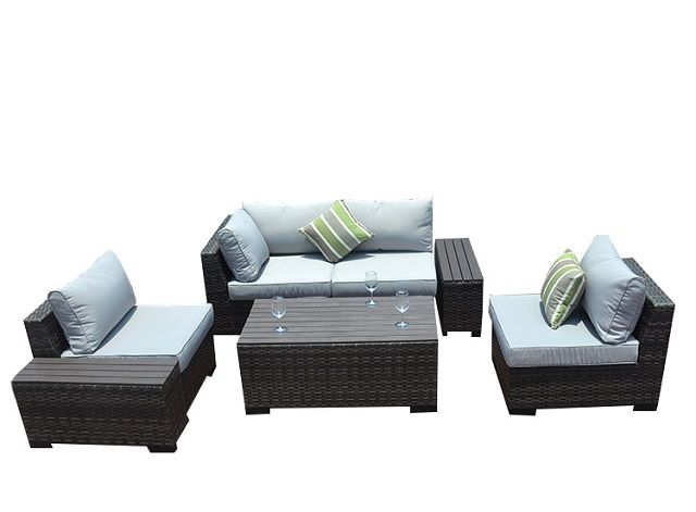 Pas 1106b Modern Outdoor Plastic Wood Sectional Sofa Set With Cushion Buy Plastic Wood Table New Design Fur Casual Furniture Sectional Sofa Furniture Design