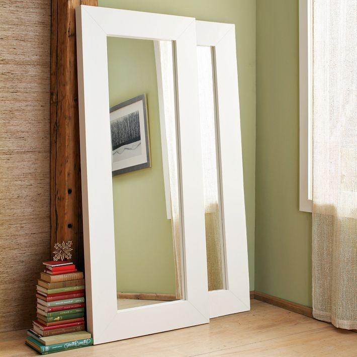 Chunky Wood Frame Floor Mirror: Elm Mirror, Floor Mirrors, Mirror Closet Doors, Floors, Diy, Bedroom, West Elm