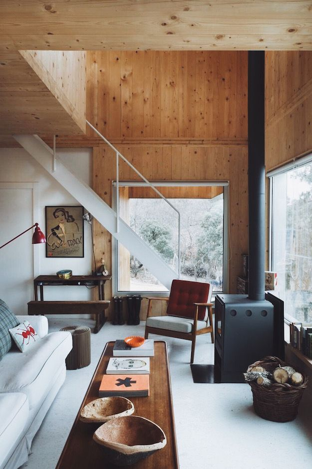 25 best ideas about modern cabin interior on pinterest for Modern cabin homes