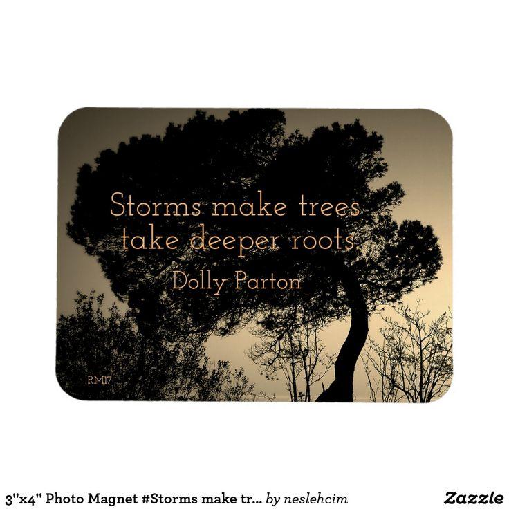 "3""x4"" Photo Magnet #Storms make trees take........"