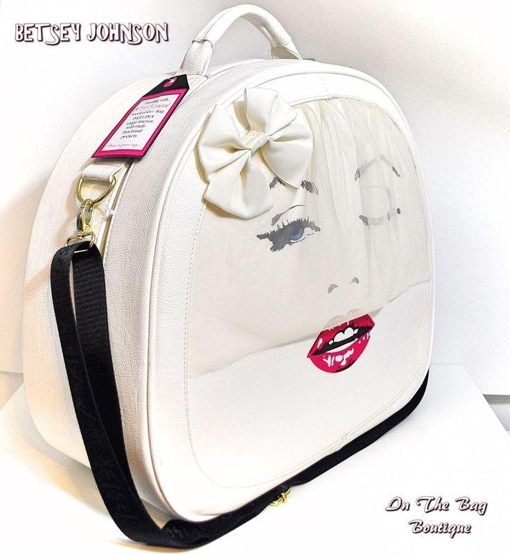 Betsey Johnson Marilyn Monroe Bride Weekender Travel Crossbody Train Case Bag #BetseyJohnson #ShoulderBagCrossBodyTrainCase