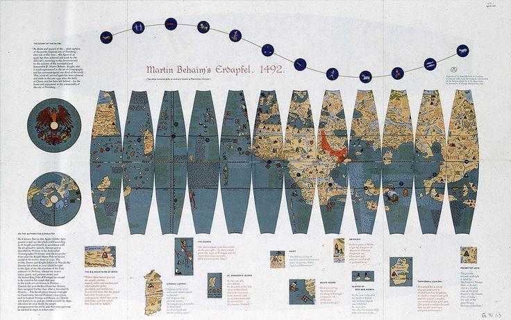Terrestrial facsimile globe gores - National Maritime Museum