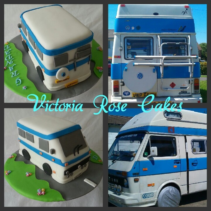 how to make a vw camper van cake