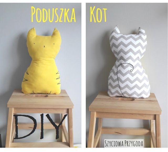 Poduszka kot - instrukcja jak wykonać dla początkujących #DIY #TUTORIAL #SZYCIE #KOT #PODUSZKA