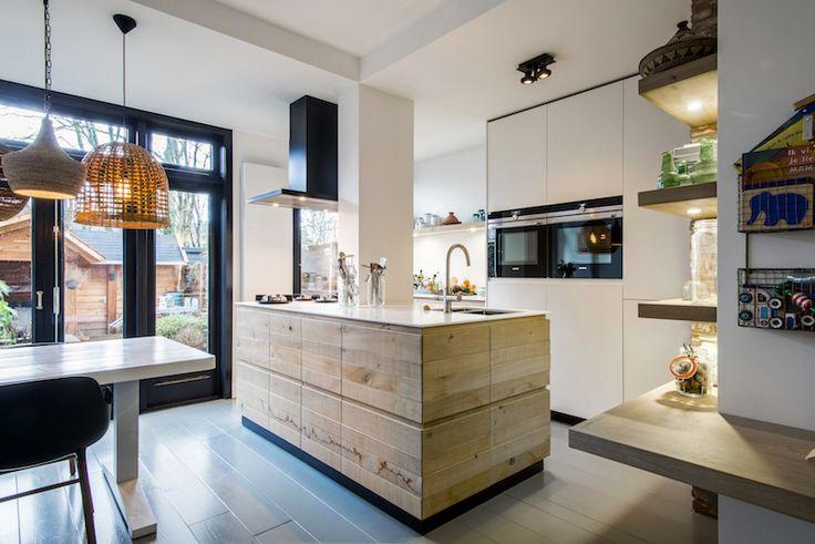 25 besten Houten keukens met kookeiland Bilder auf Pinterest ...