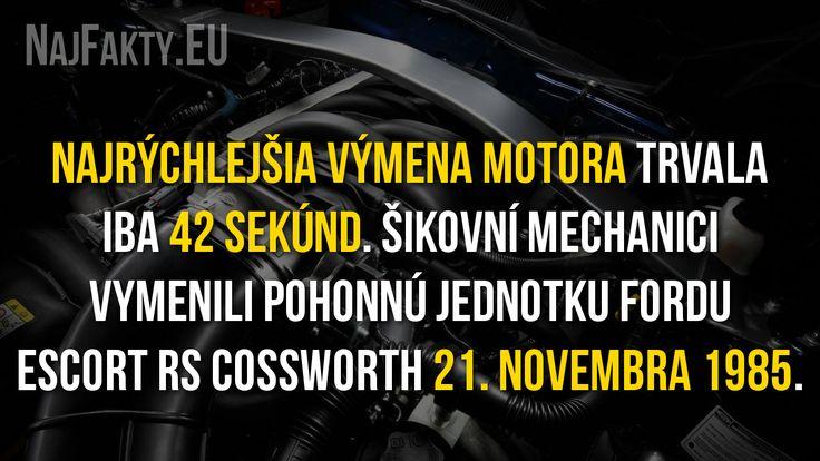 Koľko trvala najrýchlejšia výmena motora?