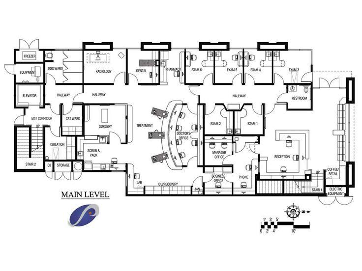 Floorplan Ideas 33 best floor plans: veterinary hospital design images on