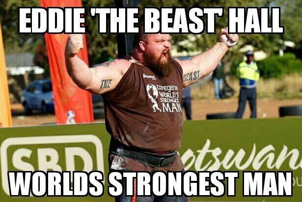 Eddie Hall 'The Beast' #worldsstrongestman