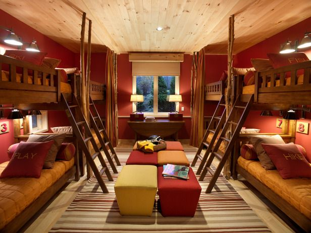 Great Bunk Room from 2011 HGTV Dream Home, Stowe, VT