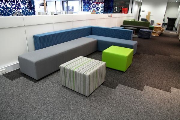 Booth seating @ Kinetic IT project by Burgtec WA