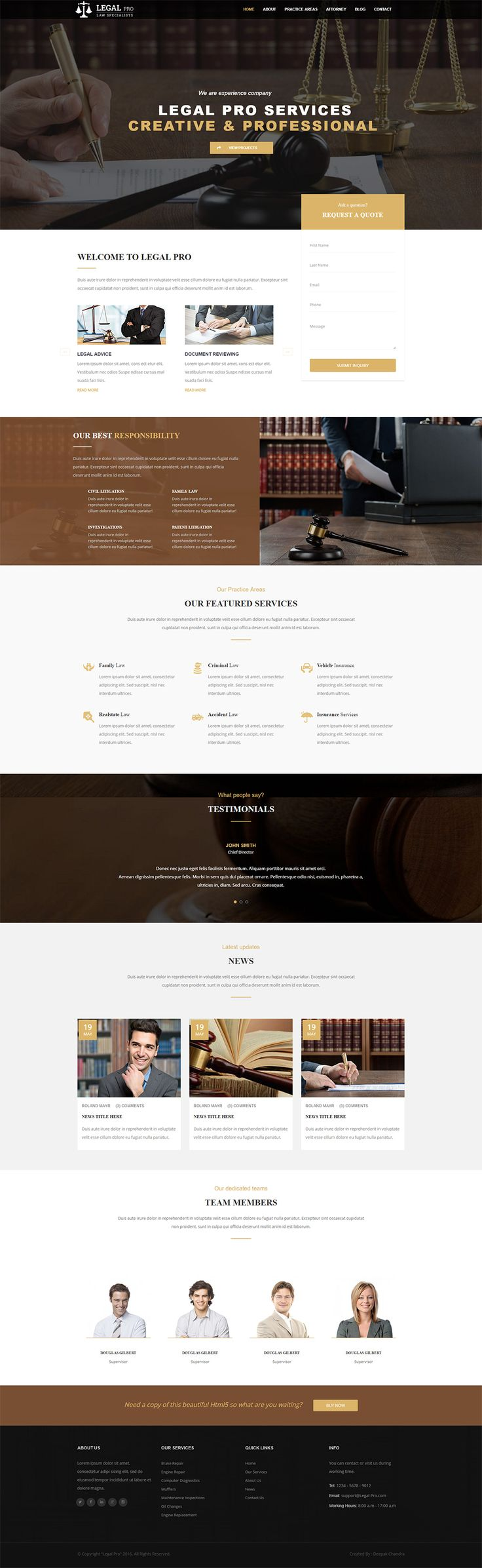 Legal Pro - Law/Legal Business Template, Corporate Business