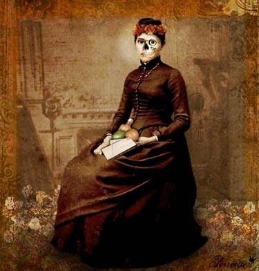 Dia de los Muertos: Fashion Paintings, Dead Art, Art Design, Of The, La Muertos, Day, Front Window, Dead, Day