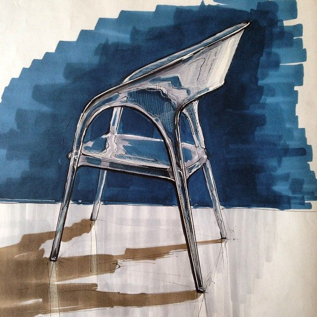 #sketch #sketching #chair #plastic #interior #design #furniture #copic