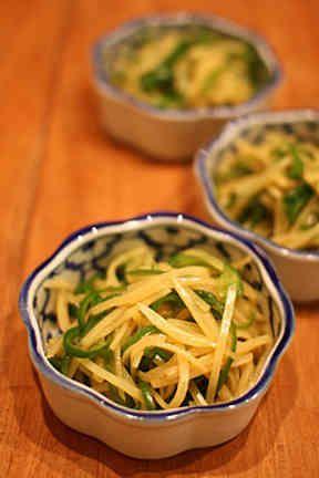 【簡単副菜】ピーマンとじゃがいも中華炒めの画像