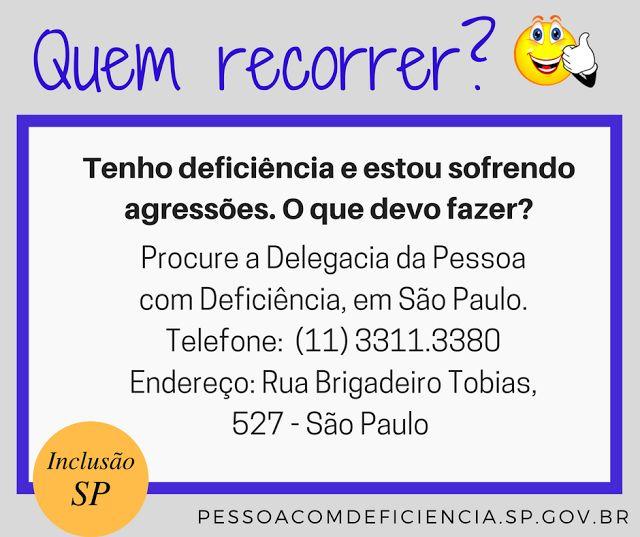 Acessibilidade em Questão: A QUEM RECORRER  EM CASO DE VIOLÊNCIA CONTRA A PES...