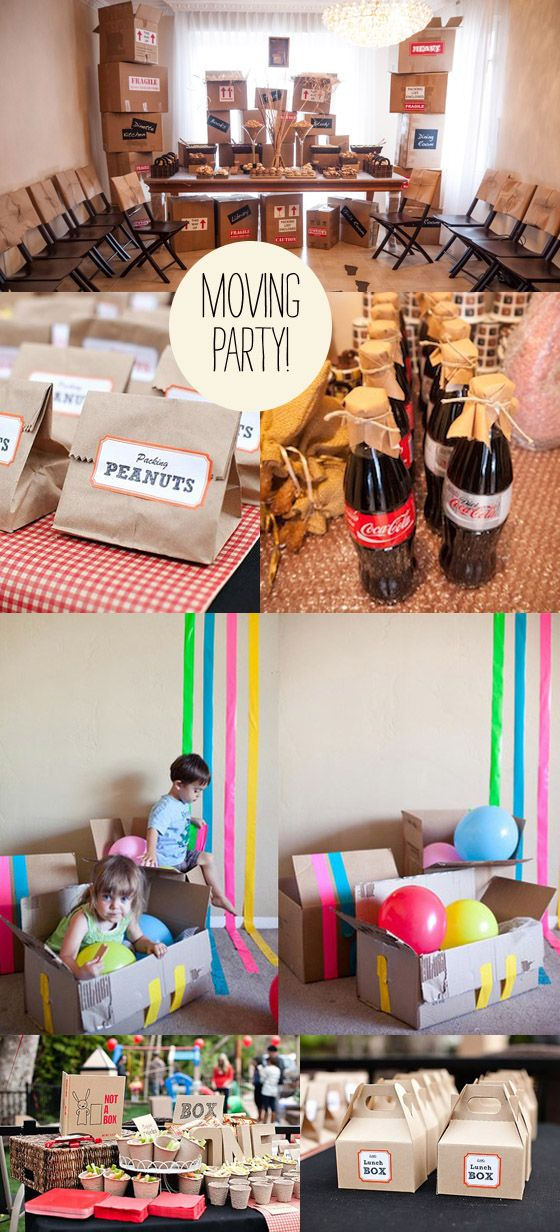 moving party Movin Time! {Party Inspiration} ... Kinda funny :-) lets throw a moving party. Hee. Hee.