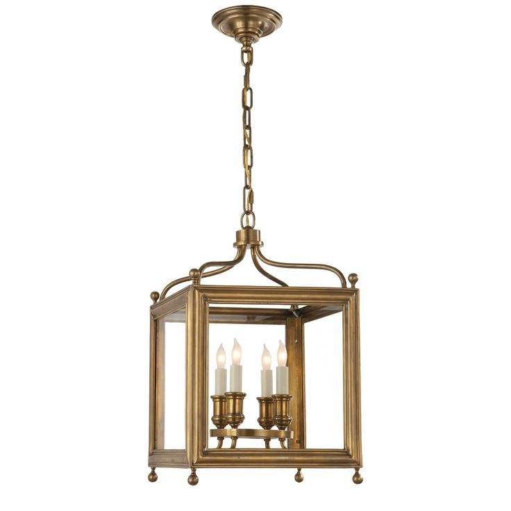 Greggory Small Lantern in Hand-Rubbed Antique Br