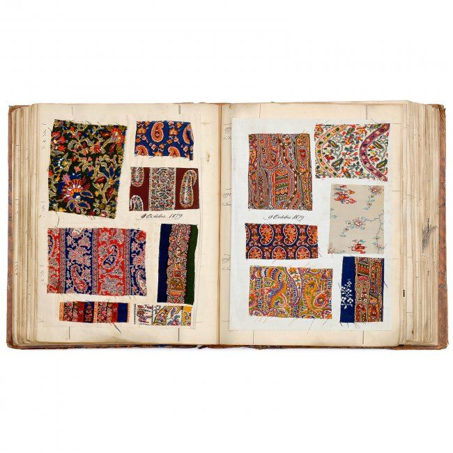 Parisian Fabric Pattern Book, 1879–1880 : Lot 597