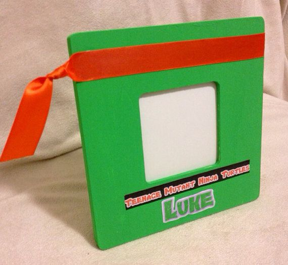 Custom Teenage Mutant Ninja Turtles Your Choice Ribbon Color Frame