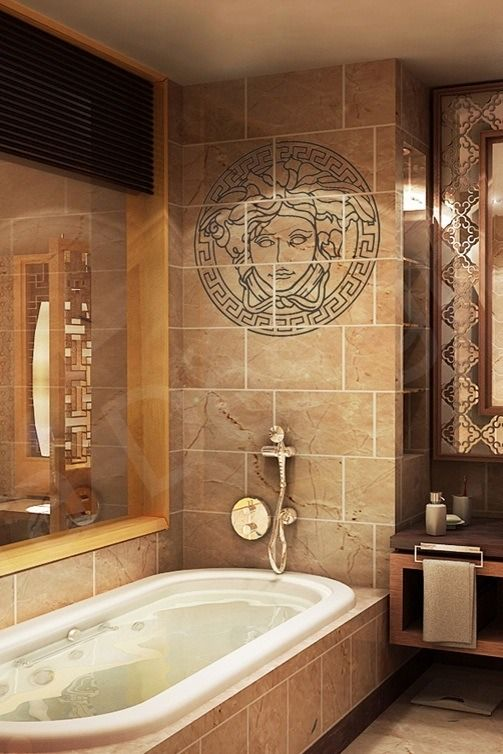 Versace inspired bathroom bathroom closets pinterest luxury man photo and photos for Home decor interiors bathroom