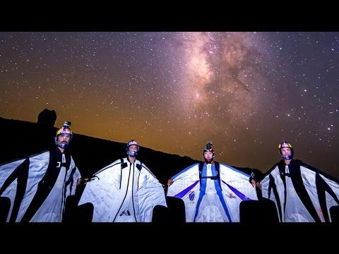 Wingsuit Flying Among the Shooting Stars - YouTube