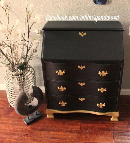 Refurbished furniture   Regal Vintage Secretary Desk Pure Home. 169 best Kristi Kuehl Pure Home Paint   Finishes images on Pinterest