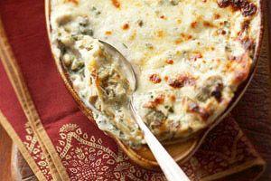 Creamy Artichoke Lasagna Recipe - Kraft Recipes I might try this with chicken!