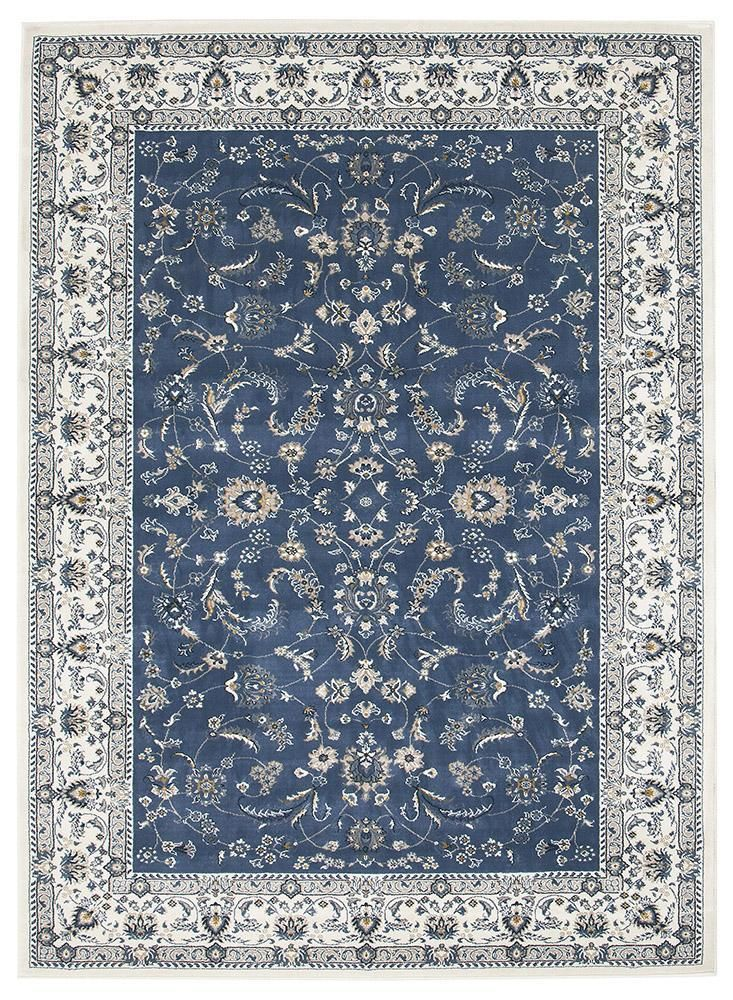 Patricia 20 Blue White Traditional Rug A Classic Selection Of Traditional Persian Designs Makes Up This Blue And White Rug Blue Oriental Rug Modern Rugs Blue