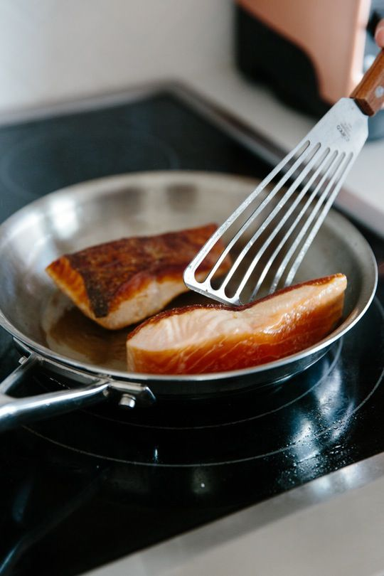 When it comes to simple, quick-cooking weeknight meals, pan-seared salmon always has a place in my regular lineup. This foolproof technique delivers a perfect medium-cooked fillet that's tender and flaky with deliciously crispy skin.