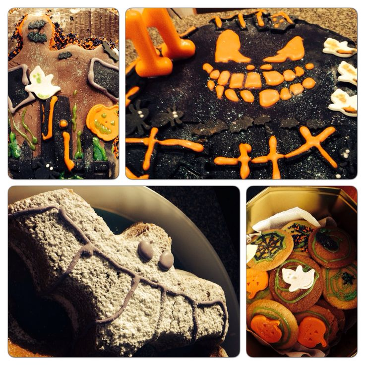 Hallowen cake and cookies