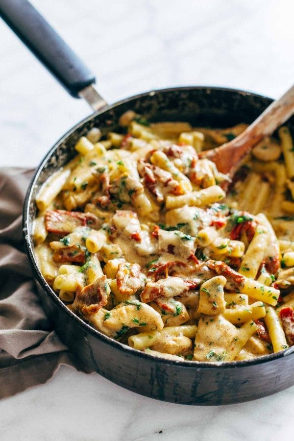 Sun-Dried Tomato Chicken Florentine Pasta  - CountryLiving.com